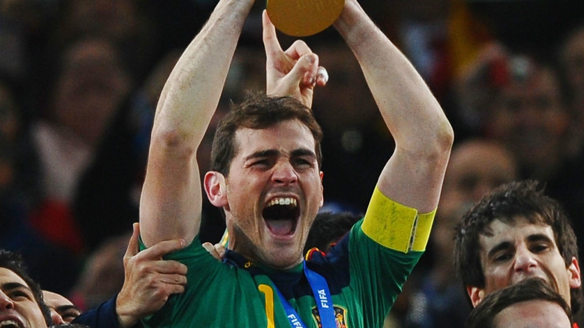 Most capped Europeans Iker Casillas