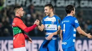 Bram van Polen, PEC Zwolle - NEC, KNVB Beker 12192017