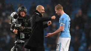 Kevin de Bruyne Pep Guardiola Manchester City 2017-18