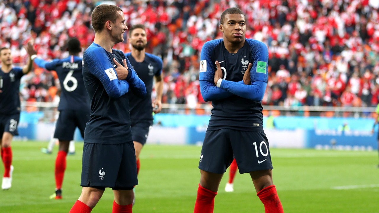 Image result for Mbappe and Griezmann