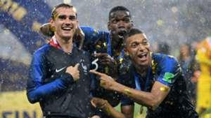Griezmann Pogba Mbappé França Copa do Mundo 16 07 2018