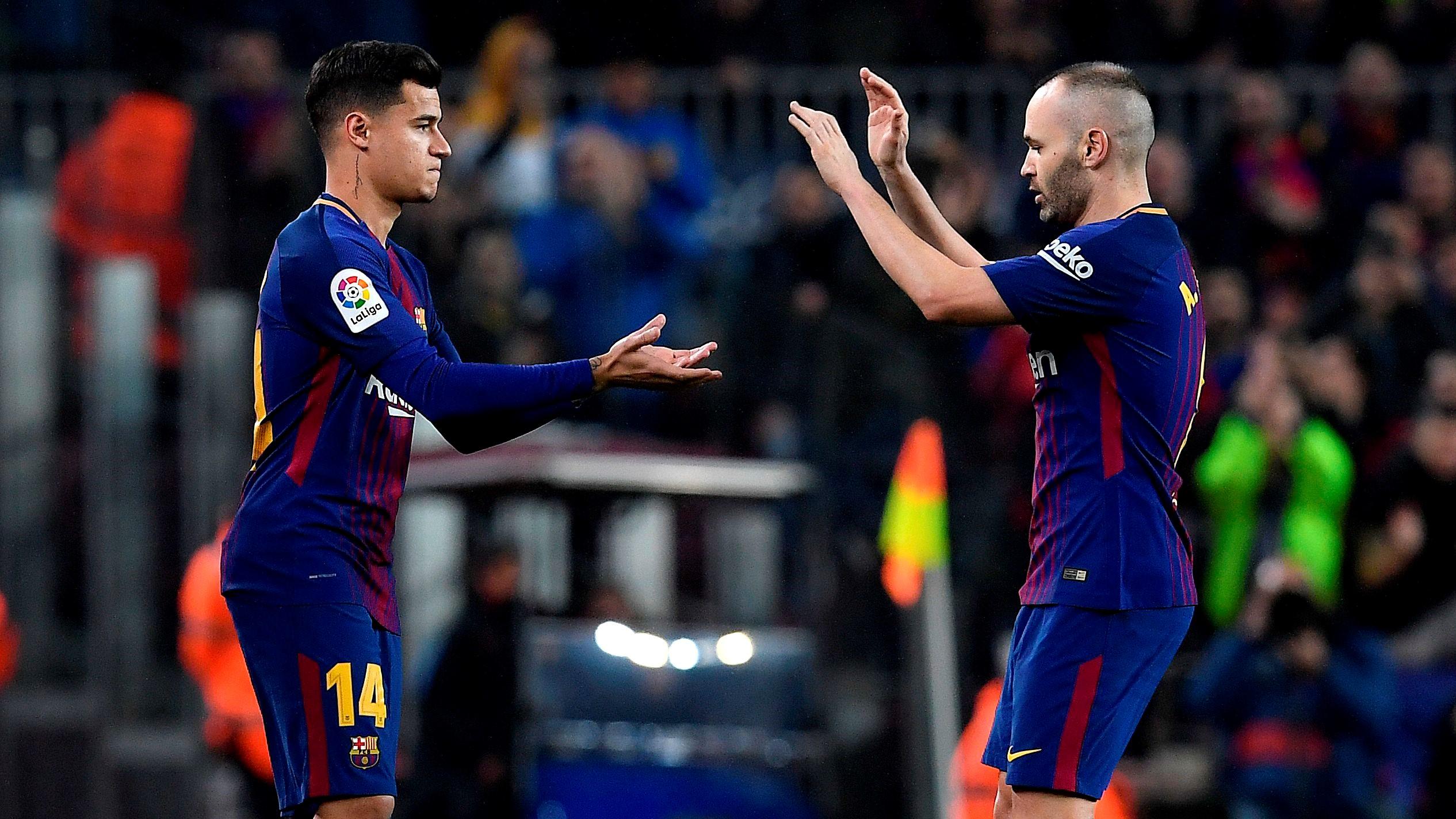 Coutinho Andres Iniesta Barcelona Espanyol Copa del Rey 25012018