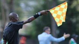 Kenyan referee at Machakos Stadium.