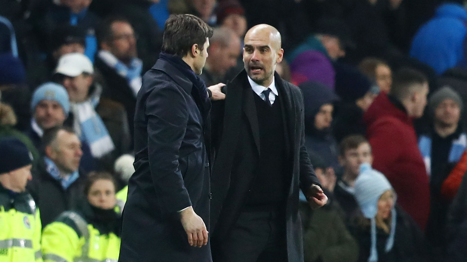 Pep Guardiola Mauricio Pochettino Tottenham Manchester City Premier League