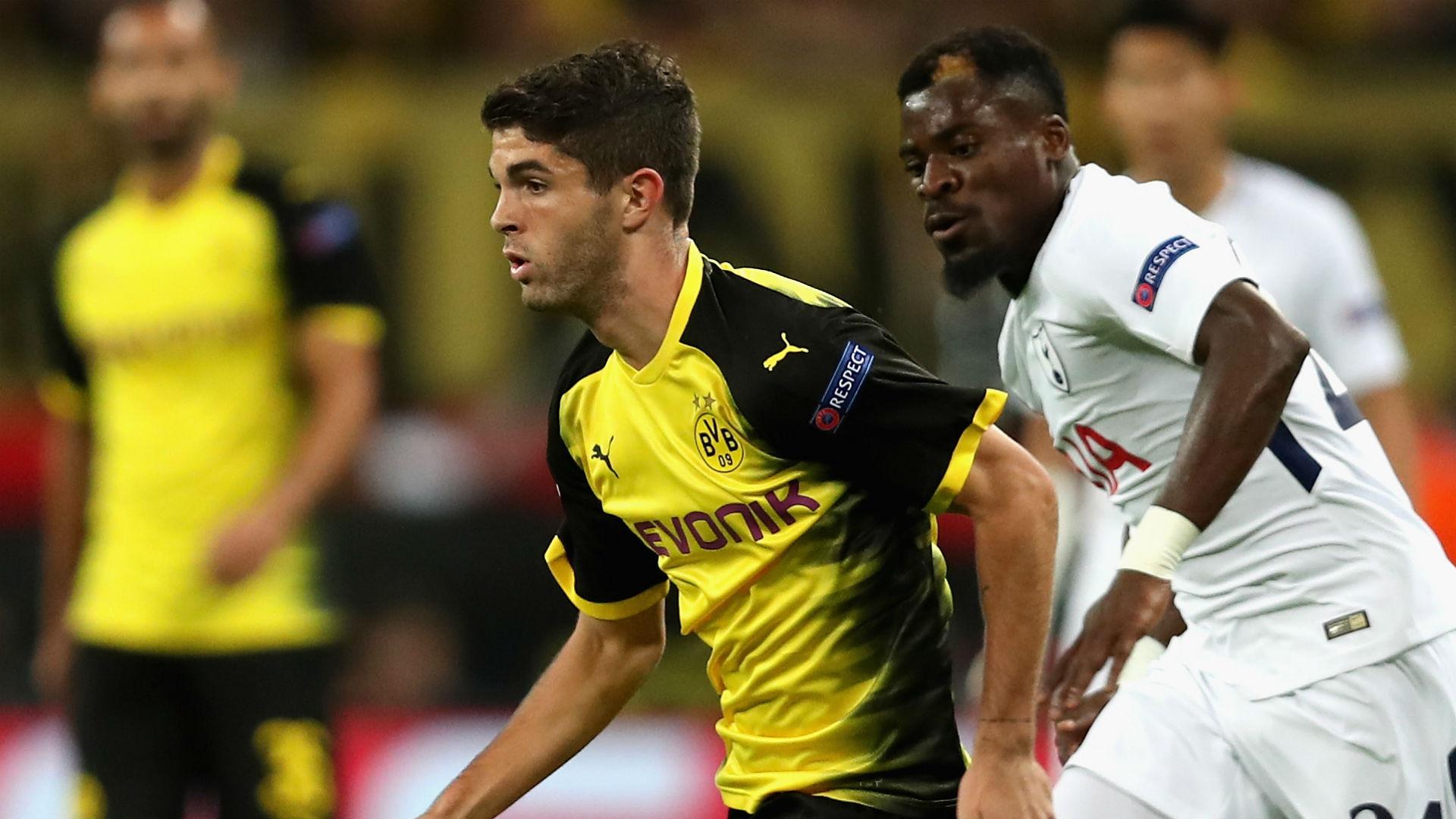 Christian Pulisic Davinson Sanchez Dortmund Tottenham