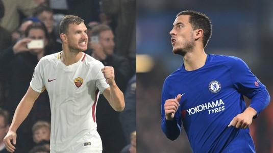 Edin Dzeko vs Eden Hazard