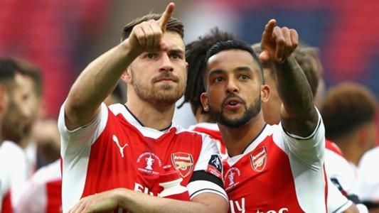 Aaron Ramsey Theo Walcott Arsenal FA Cup
