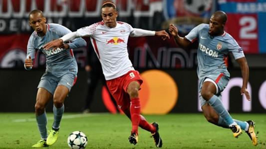 Yussuf Poulsen, Leipzig - Monaco, Champions League, 09132017