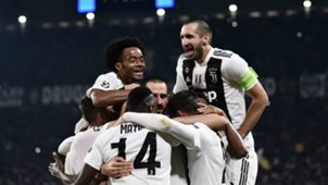 Juventus celebrating Juventus Manchester United