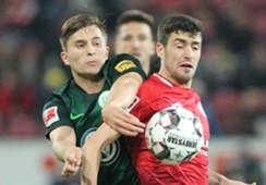 Aaron Martin Elvis Rexhbecaj Mainz 05 VfL Wolfsburg Bundesliga 26092018