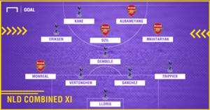 Tottenham-Arsenal Combined XI