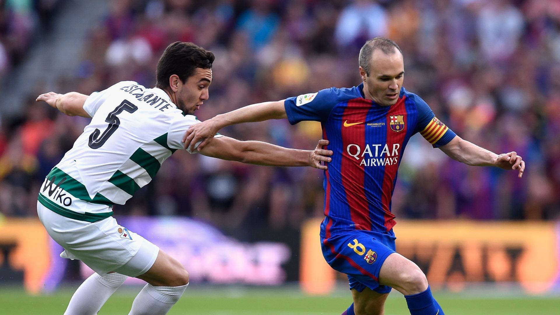 Andres Iniesta Gonzalo Escalante Barcelona Eibar LaLiga 21052017