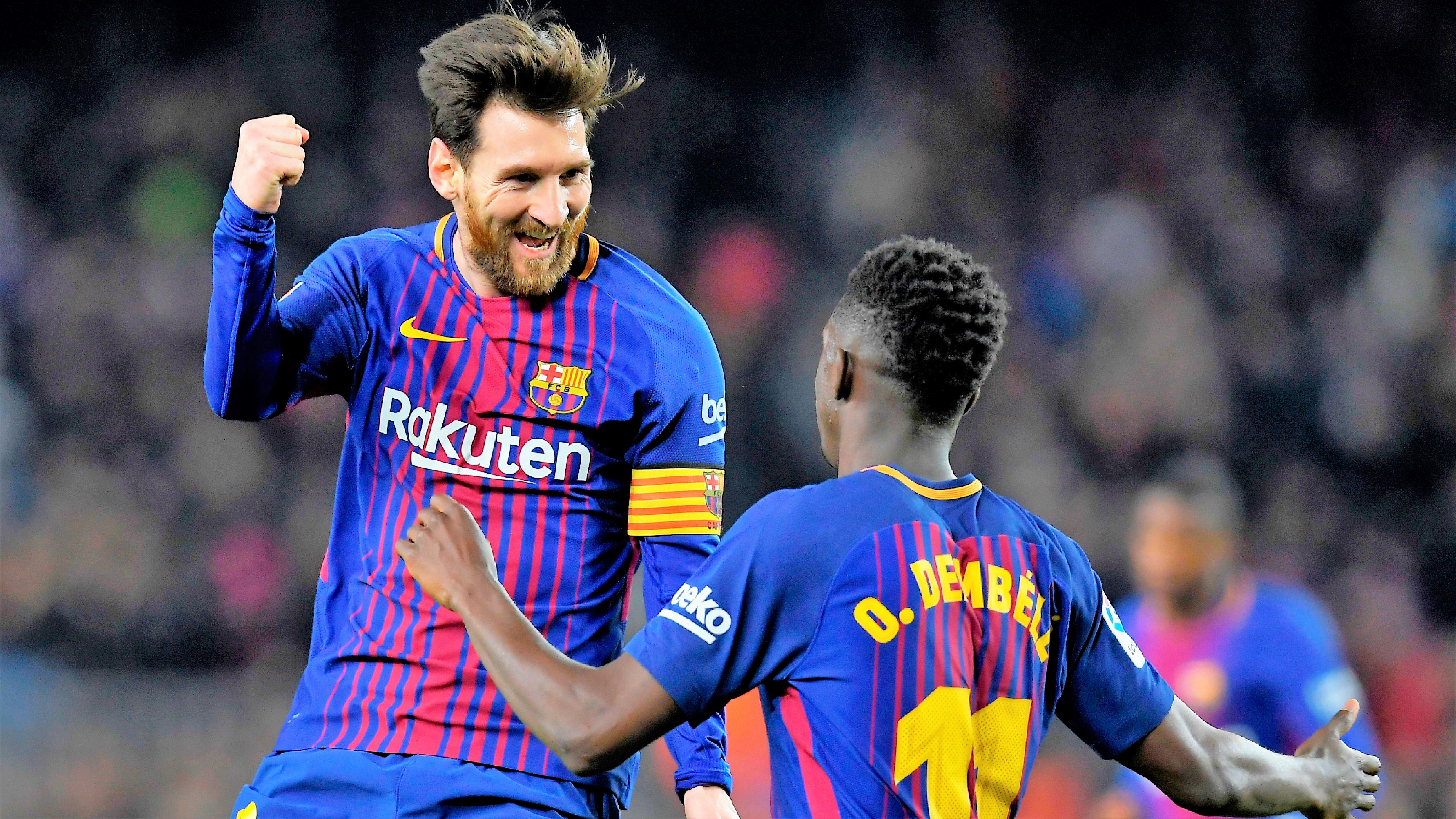 Lionel Messi Ousmane Dembele Barcelona Girona LaLiga 24022018