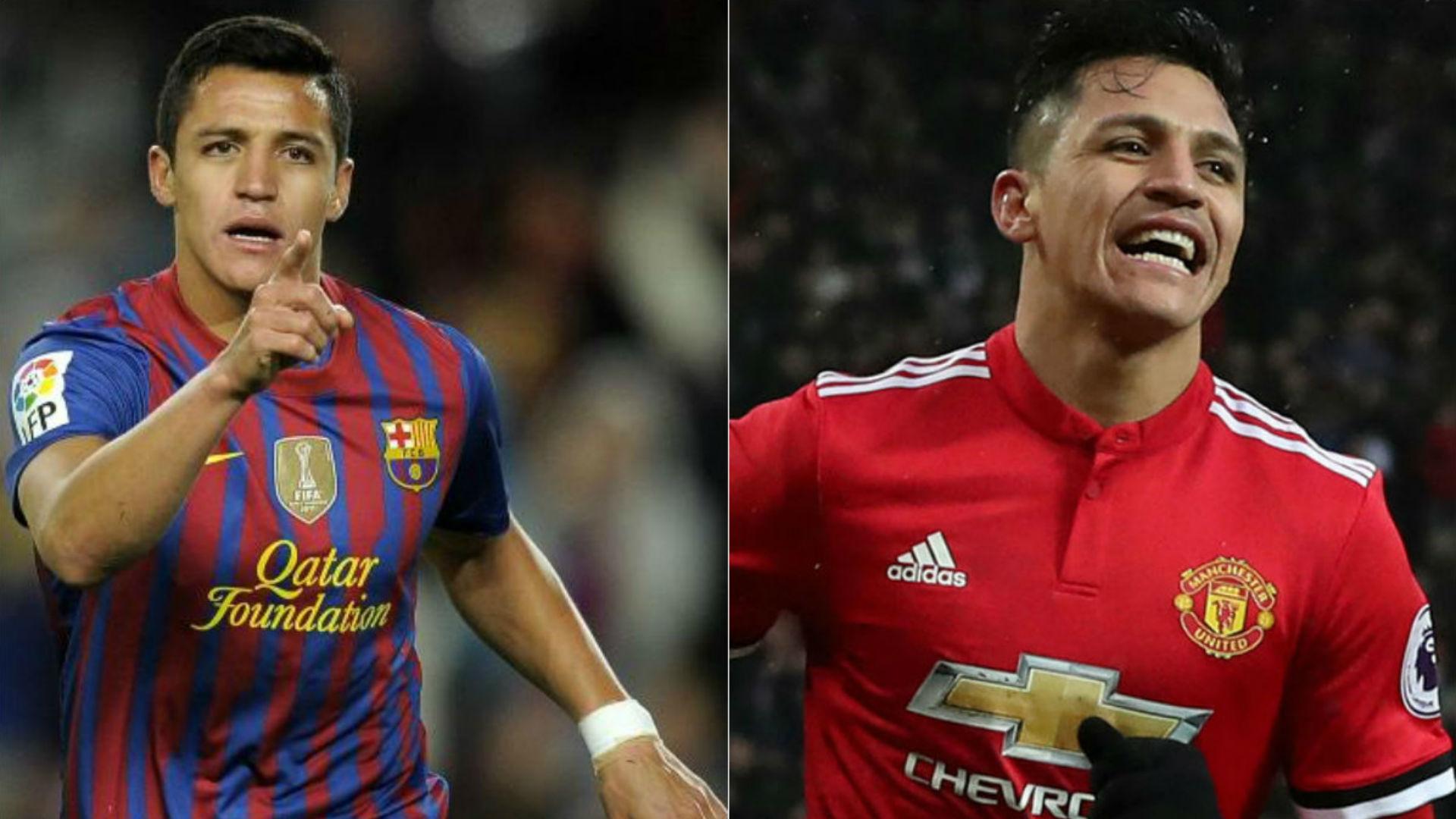 Alexis Sánchez Barcelona Manchester United