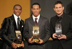 Eto'o, Ronaldinho, Lampard Fifa World Player of the Year 2005