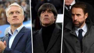Didier Deschamps Joachim Low Gareth Southgate