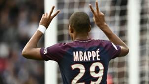 Kylian Mbappe PSG Bordeaux Ligue 1 30092017