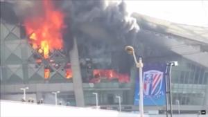Hongkou Stadion Feuer