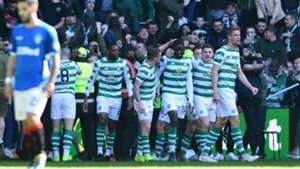 Celtic celebrate vs Rangers 2018-19