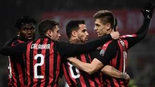 Milan celebration goal cagliari 10022019