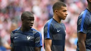 Kylian Mbappe NGolo Kante França Copa 2018
