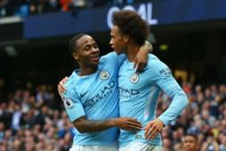Leroy Sane Raheem Sterling Manchester City