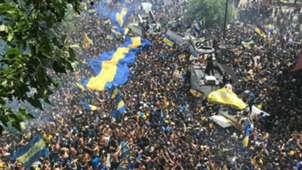 hinchas Boca banderazo Copa Libertadores 24112018