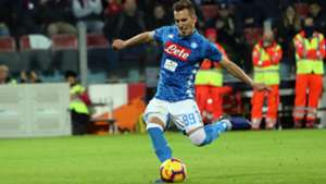 Arek Milik Cagliari Napoli Serie A