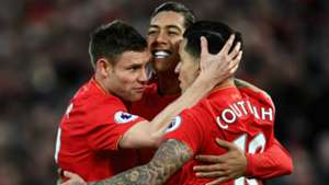 HD Milner Coutinho Firmino Liverpool celebrate