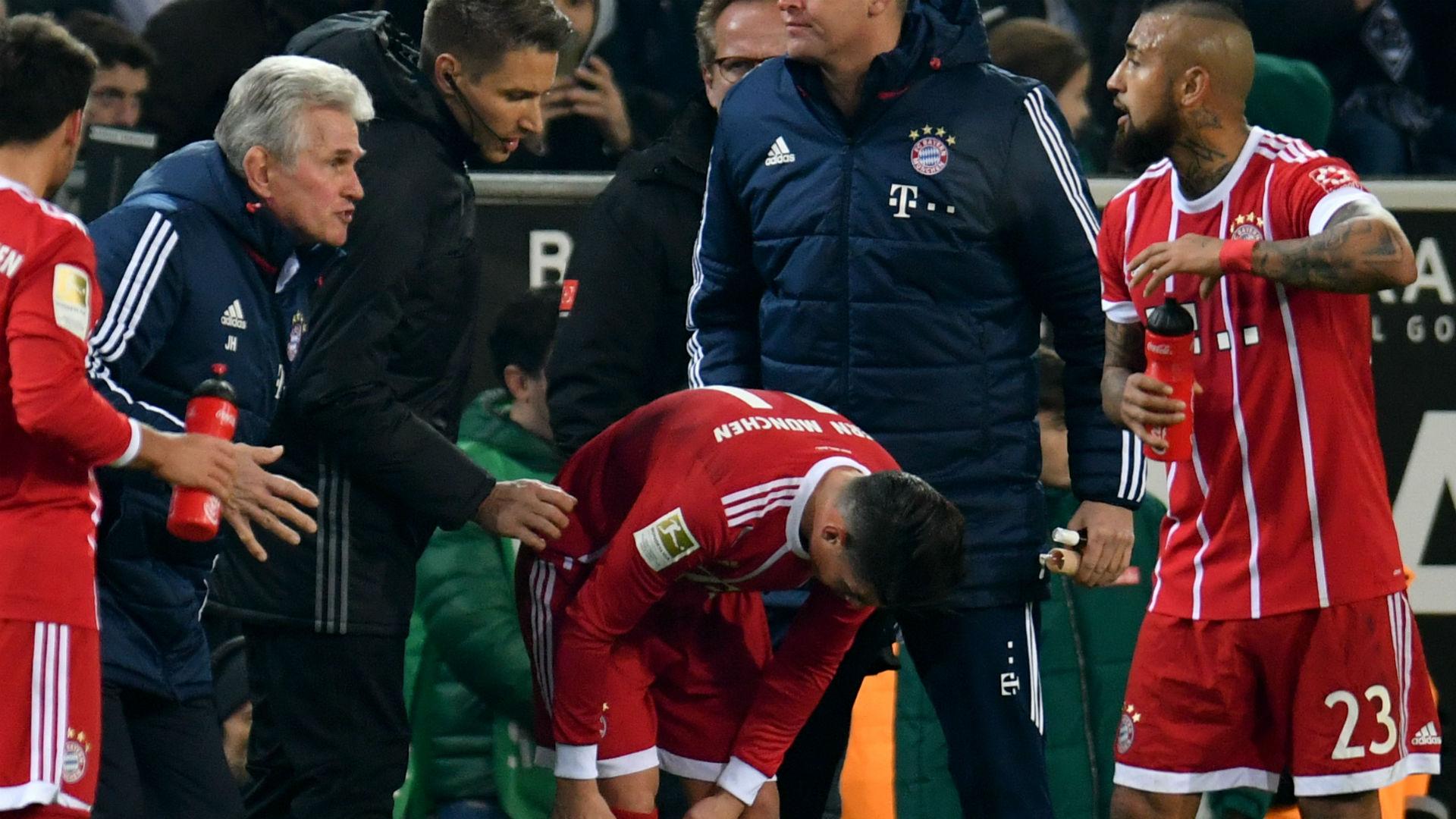 James será titular con Bayern Múnich frente a Borussia Mönchengladbach: Heynckes