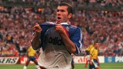 Zinedine Zidane France Brazil World Cup 98