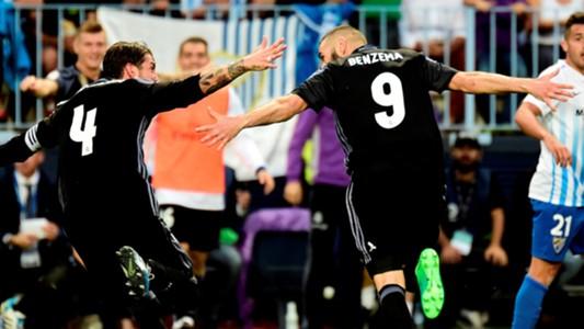 Karim Benzema Sergio Ramos Malaga Real Madrid LaLiga 21052017