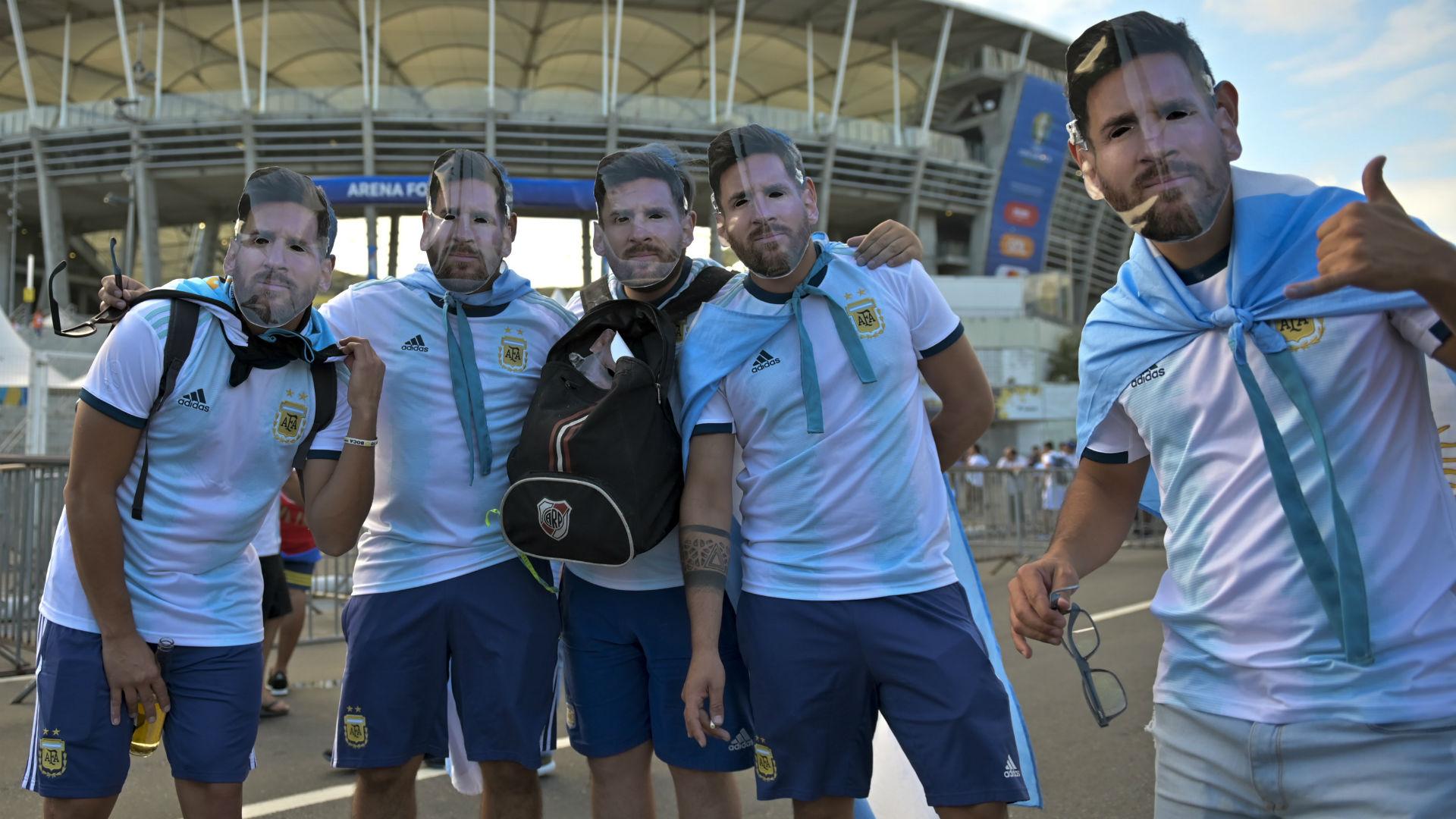 Hinchas Fans Argentina Colombia Copa America 2019