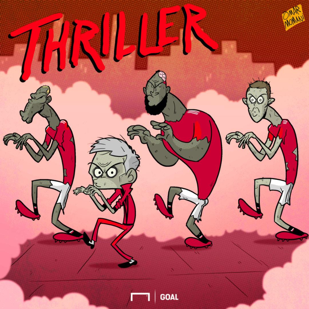 Man Utd Thriller Cartoon
