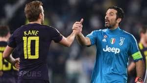 Kane Buffon Juventus Tottenham Champions League