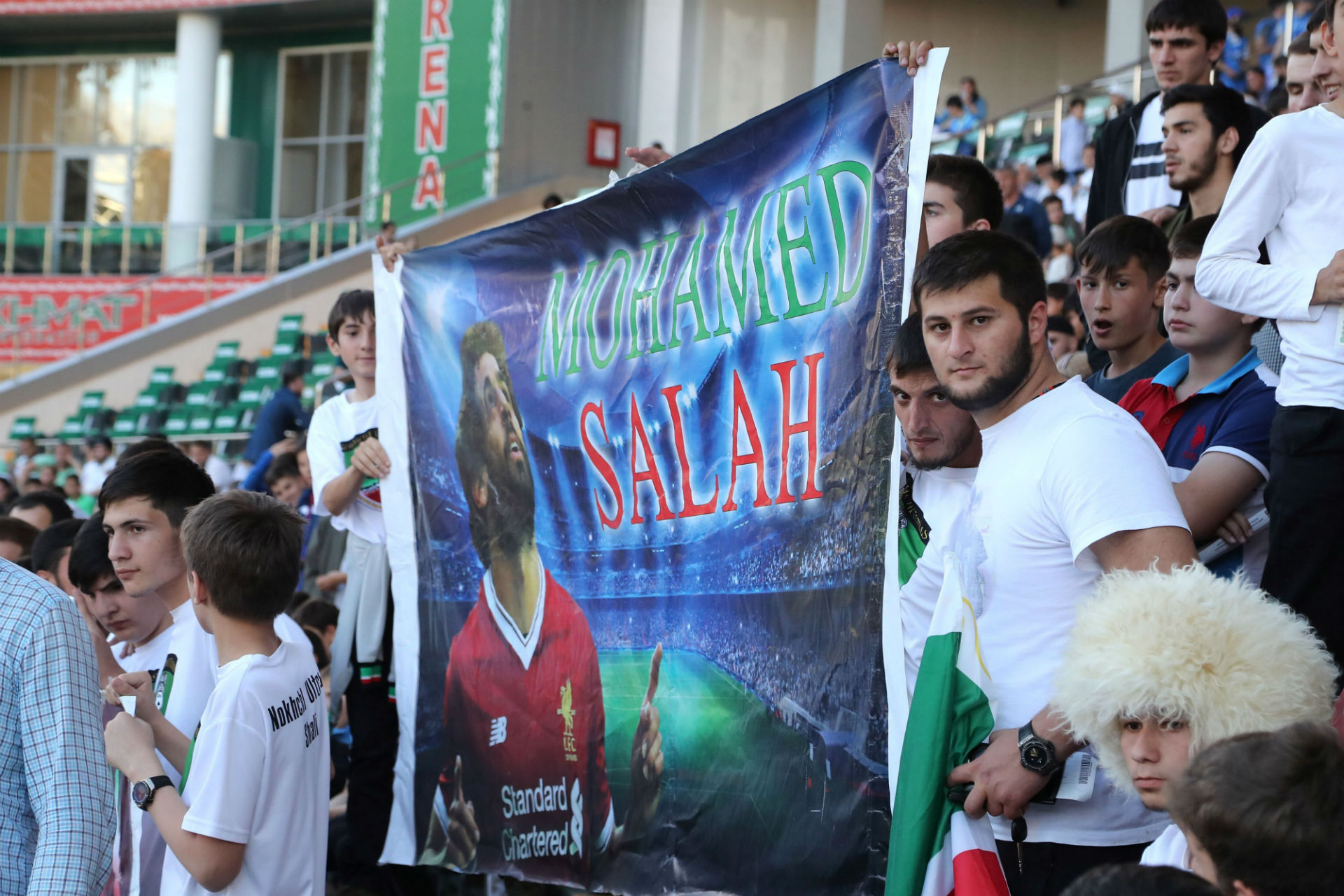Фанаты в Чечне ждут приезда Салаха