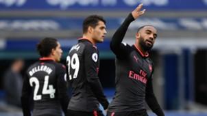 Alexandre Lacazette Granit Xhaka Arsenal Everton Premier League