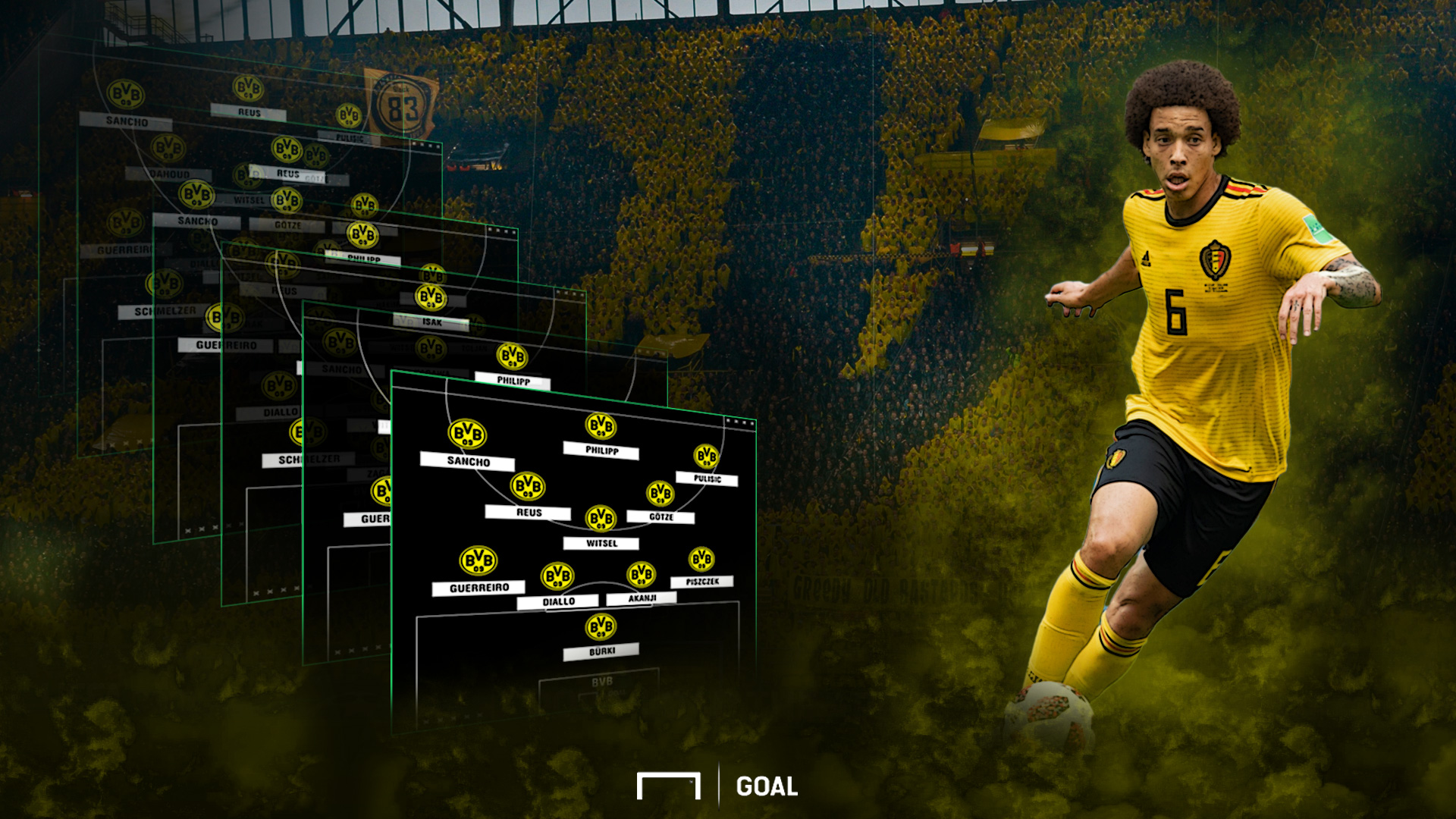 GFX Borussia Dortmund can play BVB with Axel Witsel