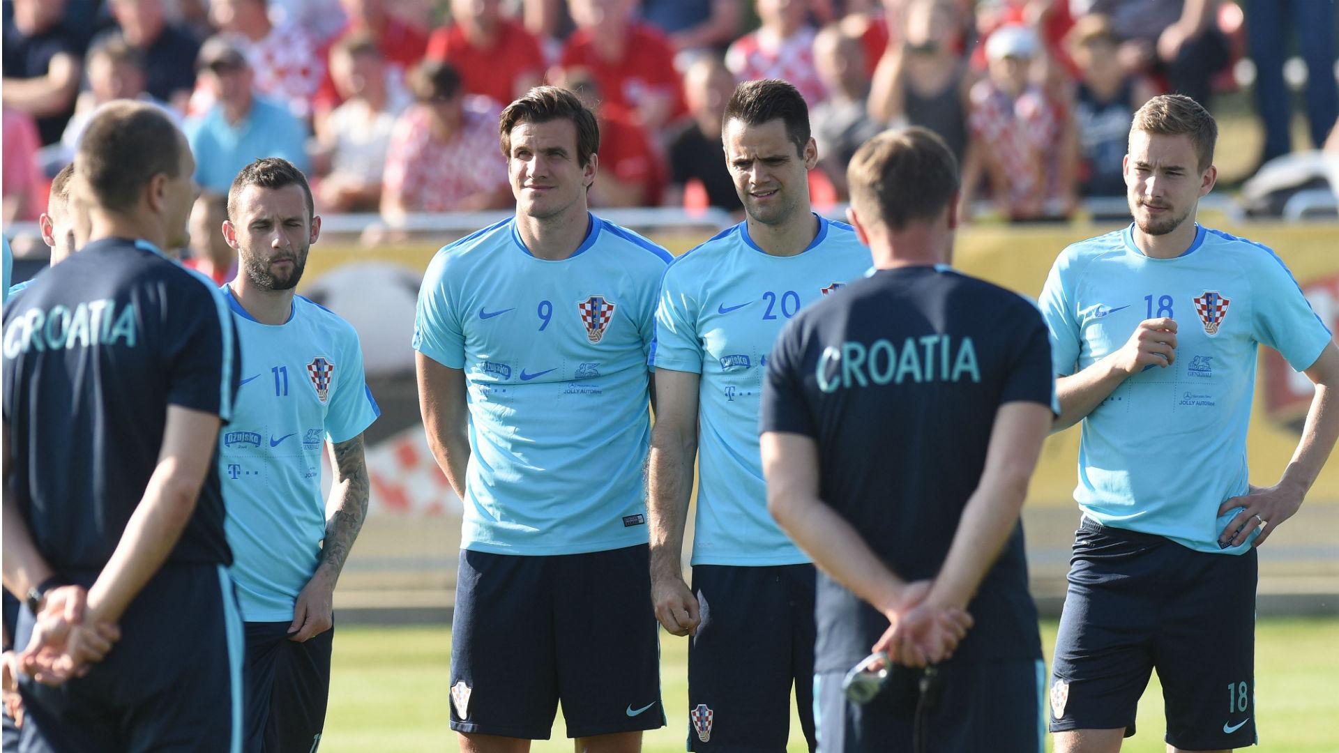 Croatia training Franko Andrijasevic Ivan Santini Marcelo Brozovic