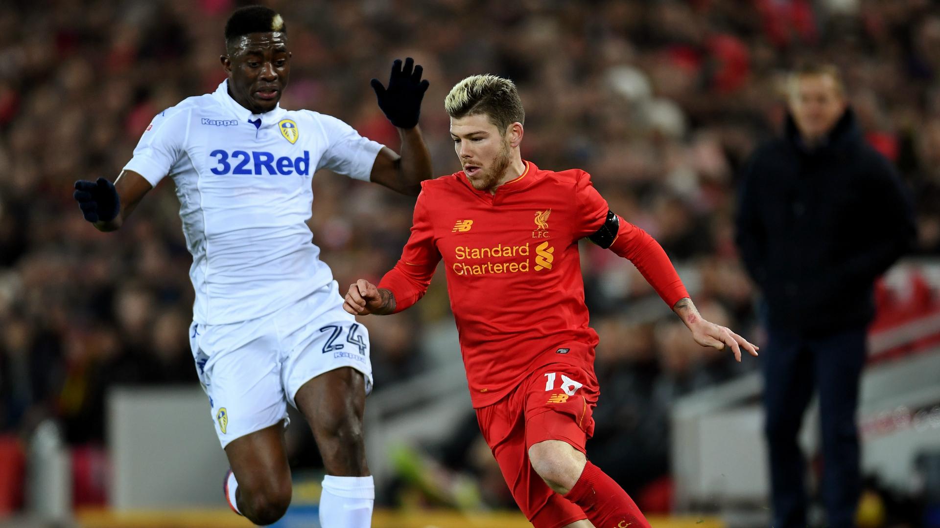 Alberto Moreno Hadi Sacko Liverpool Leeds United 11292016
