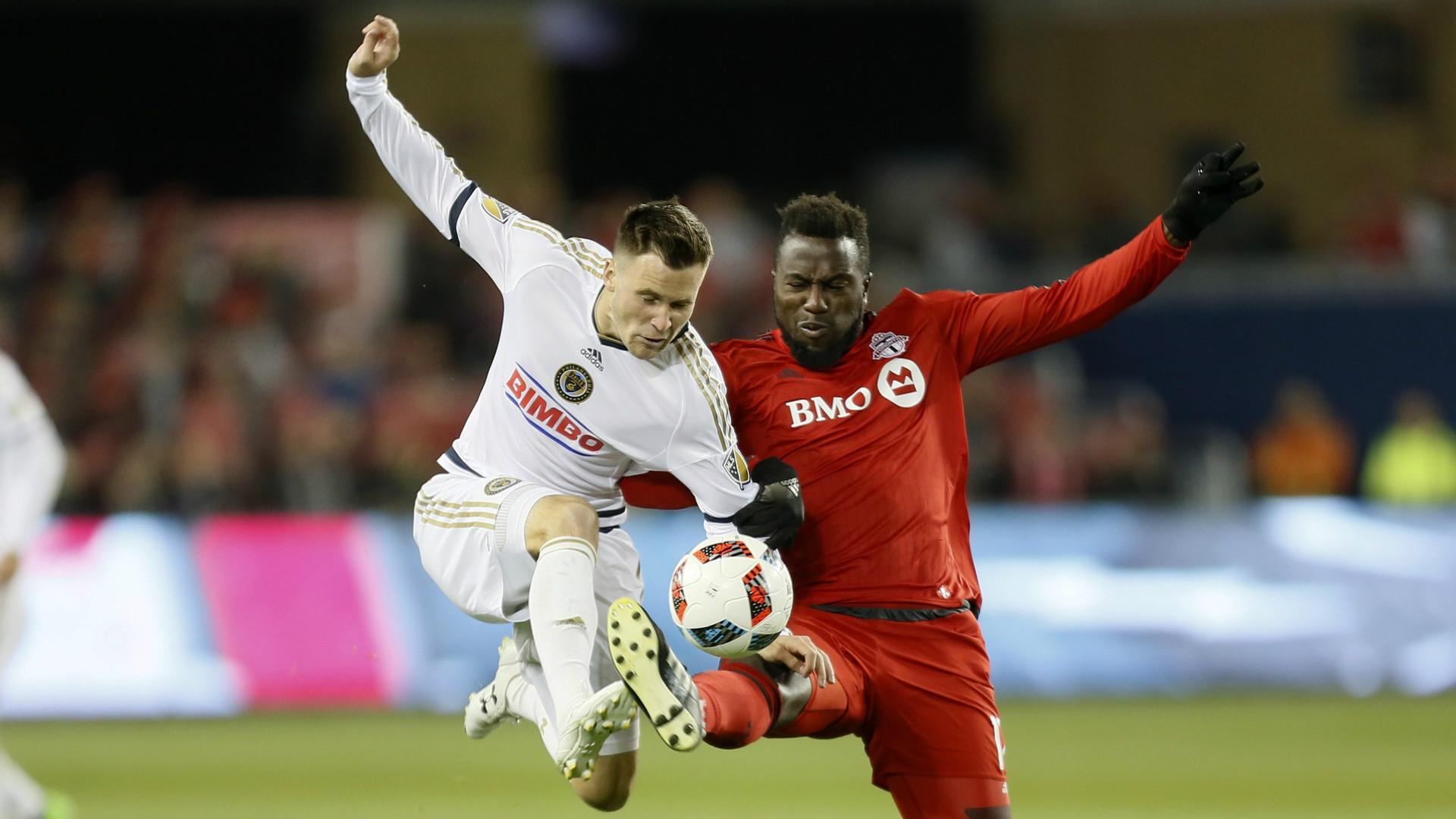 Keegan Rosenberry Jozy Altidore MLS Toronto FC Union 10262017