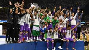 Real Madrid players celebrating Champions League win 03062017