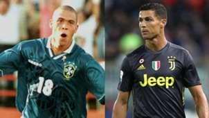 Ronaldo Luiz Nazario da Lima Cristiano Ronaldo collage