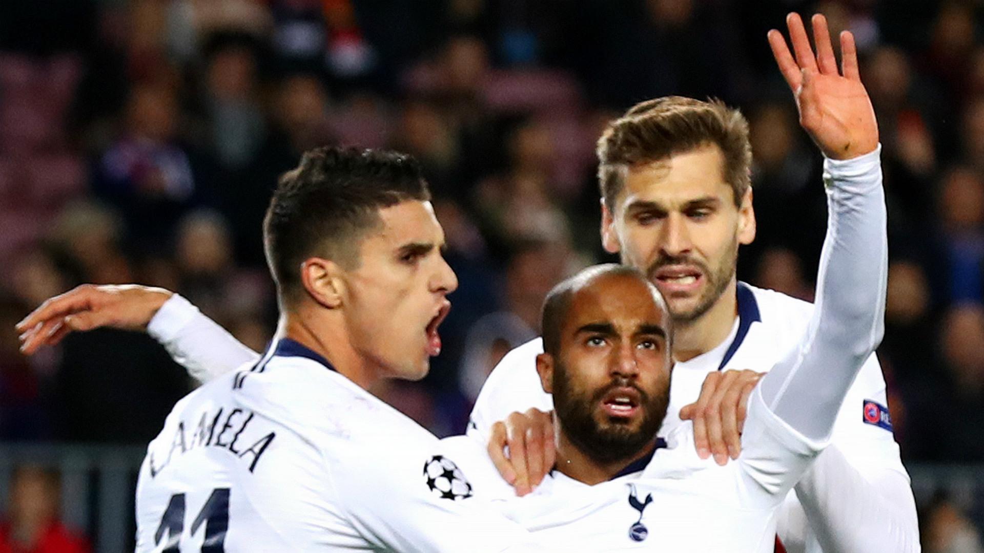 Erik Lamela Lucas Moura Fernando Llorente Tottenham 2018