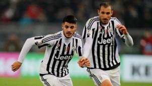 Alvaro Morata Giorgio Chiellini Juventus