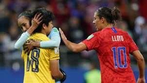 Carli Lloyd GK Charoenying USA Thailand FIFA WWC 11062019