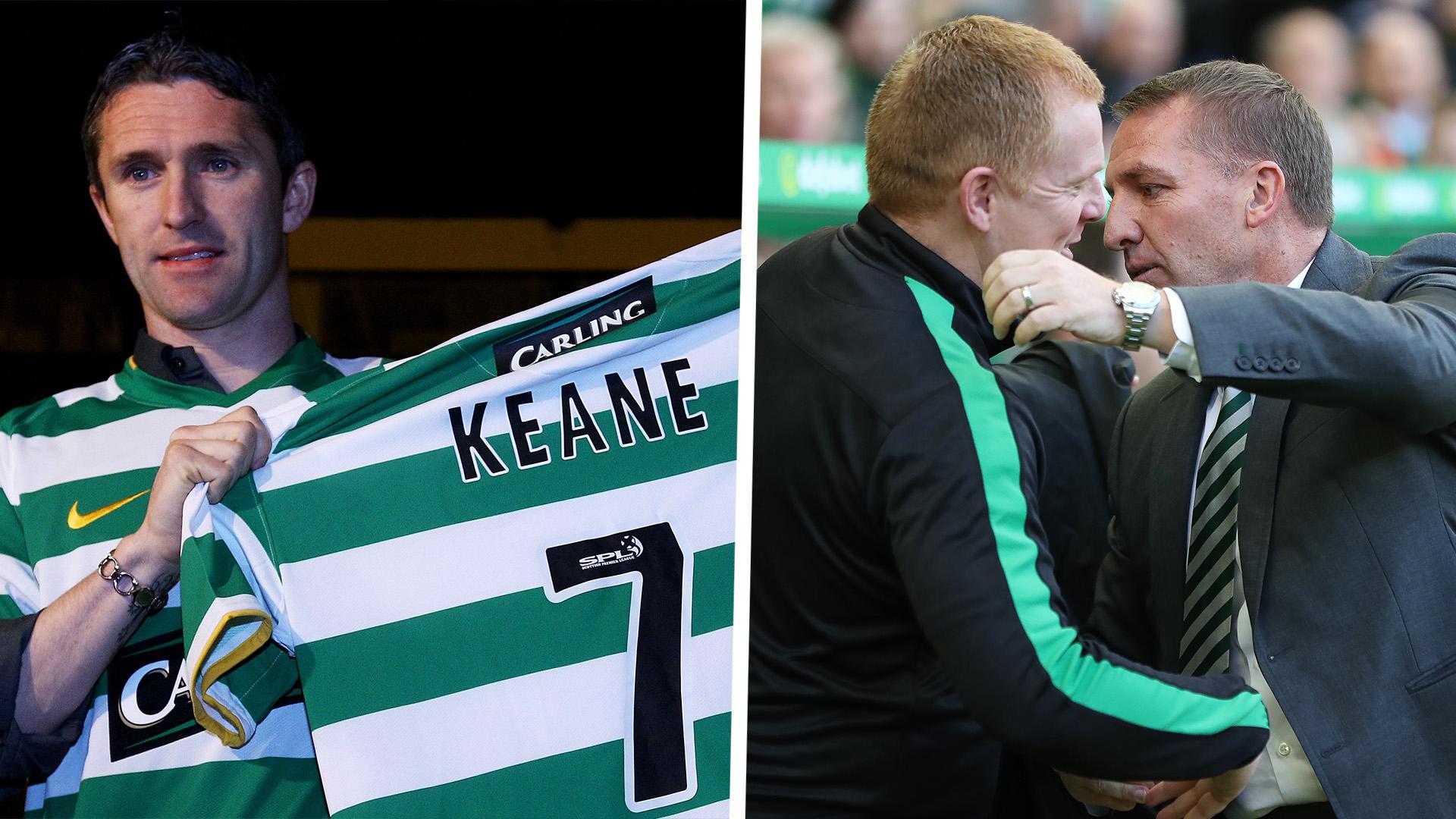 Robbie Keane Neil Lennon Brendan Rodgers Celtic