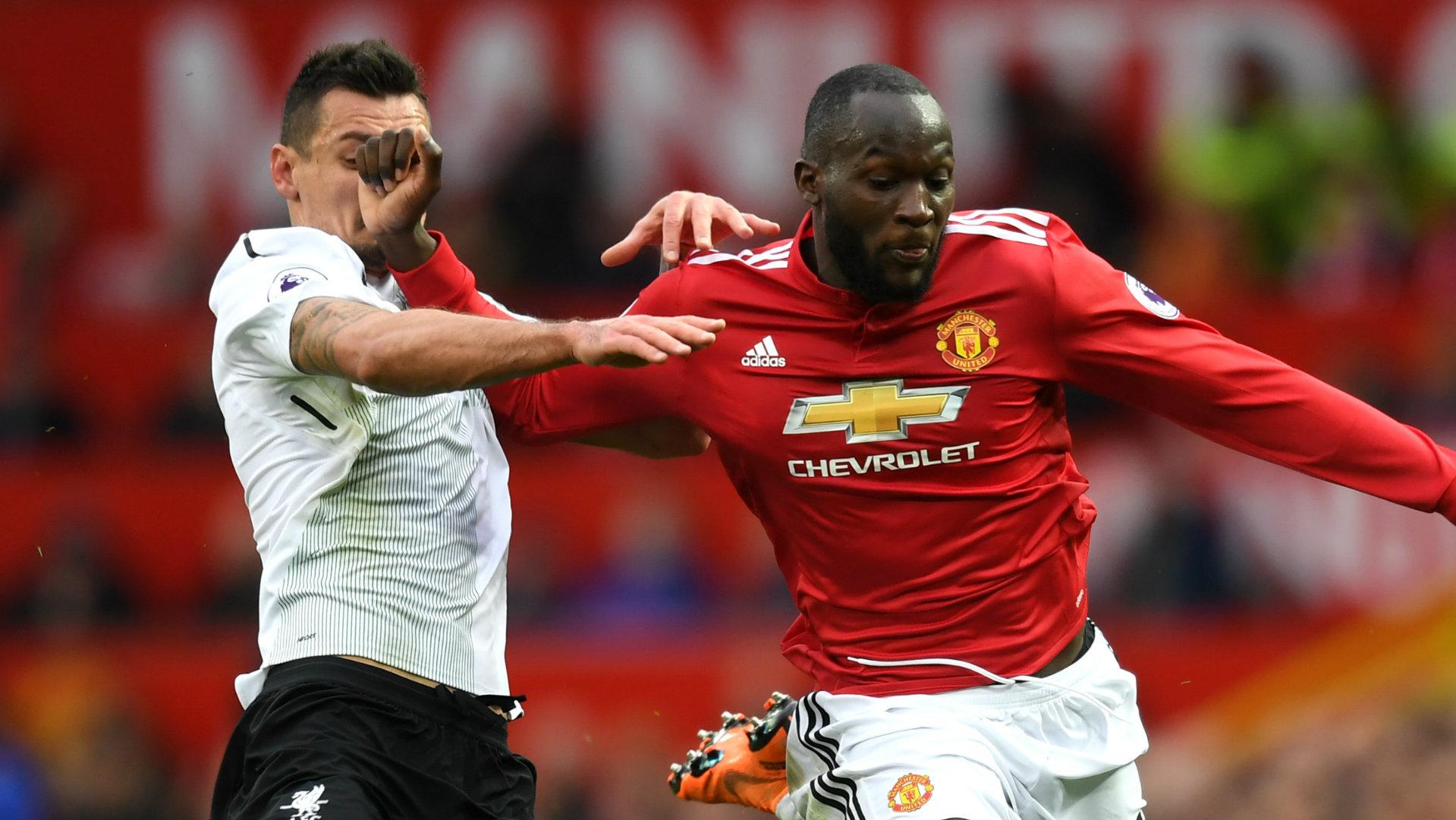 Romelu Lukaku, Dejan Lovren, Man Utd vs Liverpool, 17/18