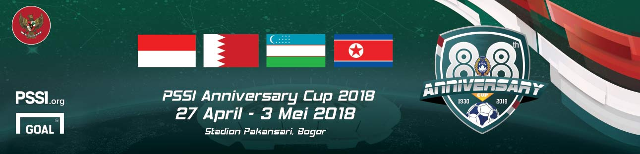 Footer banner PSSI Anniversary Cup 2018