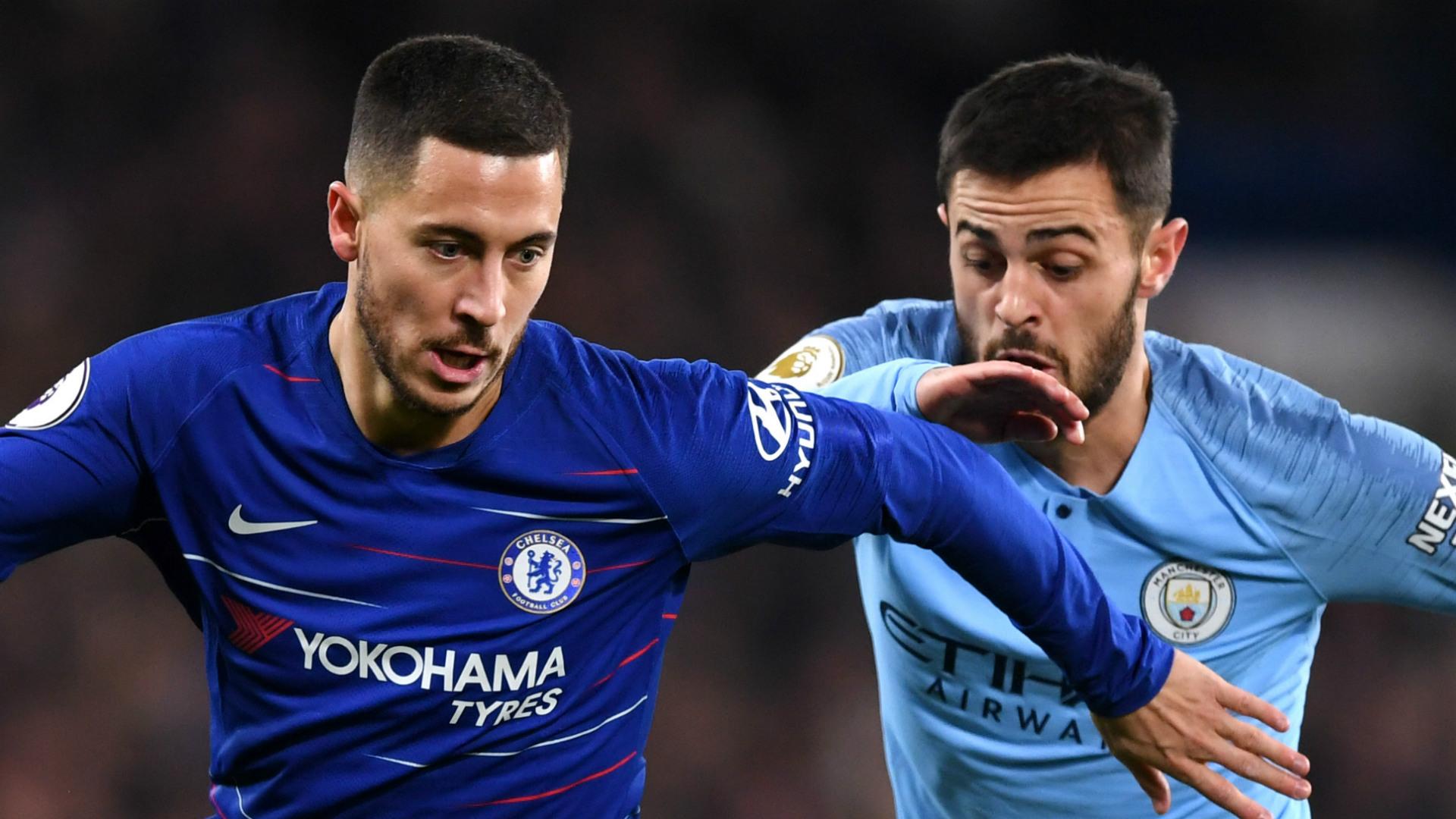 Eden Hazard Bernardo Silva Chelsea Man City 2018